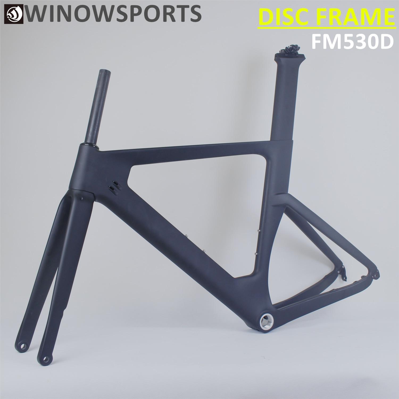 Winowsports Aero Carbon Frame Road Disc Brake 12*100mm /12*142mm UD Matte Chameleon Customs Painting Carbon Road Disc Frameset
