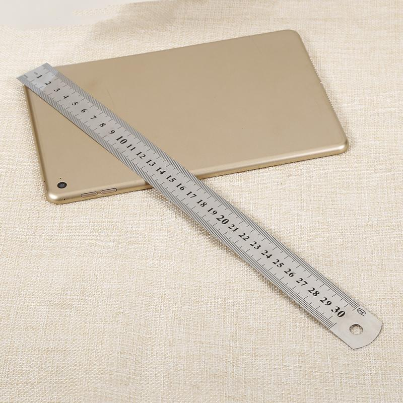 Stainless Steel Metal Ruler Metric Ruler Precision Double Sided Measuring Tools School Office For Drawing Tools