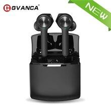 Беспроводные Bluetooth наушники GVANCA T11, V5.0, наушники с сенсорным управлением, стерео, HD разговор, с батареей 800 мАч