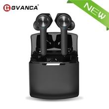 سماعة لاسلكية تعمل بالبلوتوث GVANCA T11 سماعات V5.0 تعمل باللمس سماعات ستيريو HD تتحدث مع بطارية 800mAh