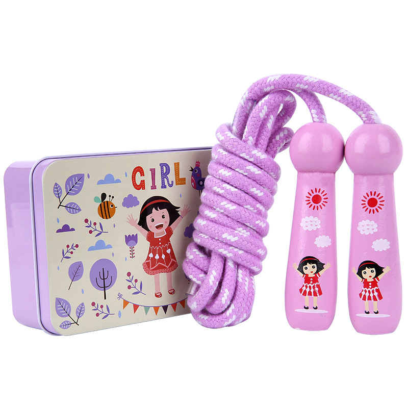 Wood Children Jump Rope Young STUDENT'S Sports Beginners GIRL'S And BOY'S Children Wood Adjustable Toy