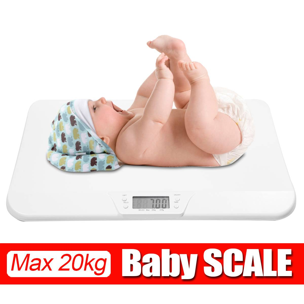 20kg Newborn Baby Scale Weight Infant Scale Toddler Grow Electronic Pets Scale Meter Digital Professional body scale with LCD