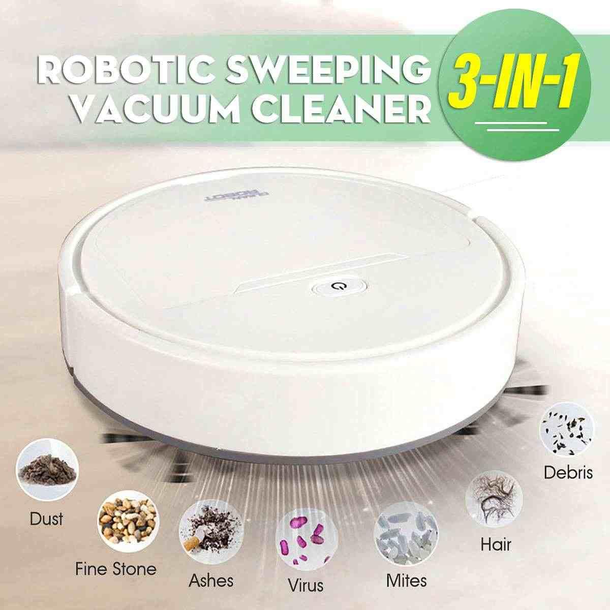 Mini Auto Succi/ón Aspiradora Multifunci/ón Recargable USB Inteligente Barrido Robot Suelo Polvo Limpio Mopa Centeraly Barrido Robot