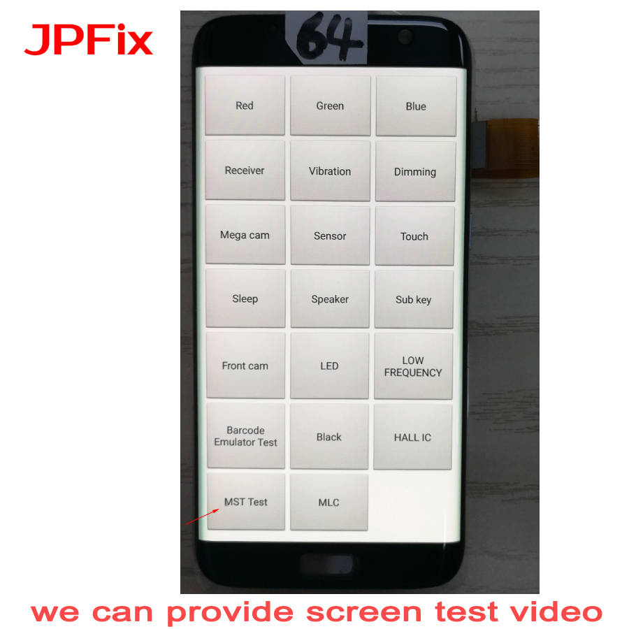 JPFix AMOLED For <font><b>Samsung</b></font> <font><b>Galaxy</b></font> <font><b>S7</b></font> Edge G935FD G935A G9350 <font><b>LCD</b></font> Touch Screen Display Assembly Complete Replacement Leakage Shadow image