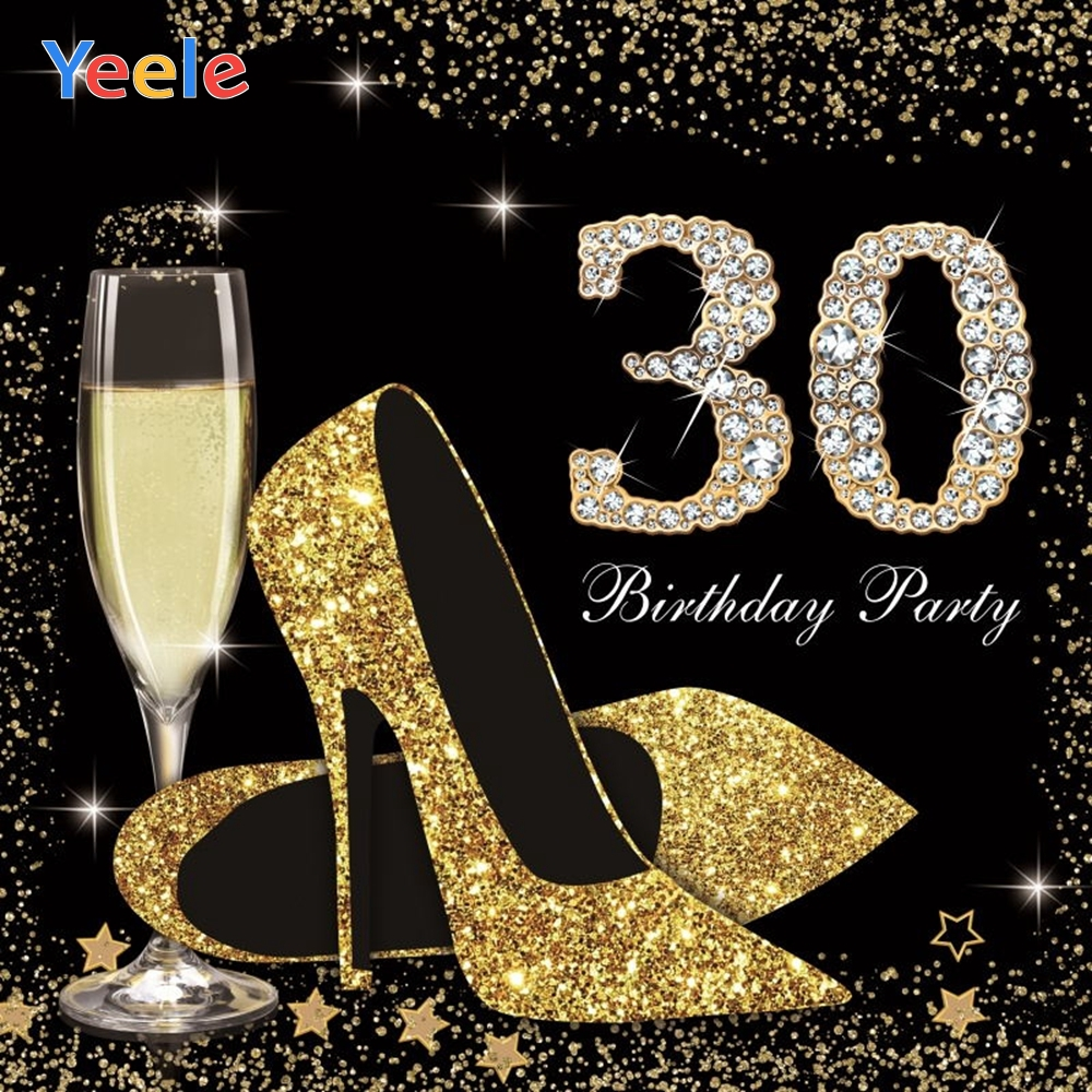 Yeele Woman 30th Birthday Party Photography Backdrop High Heels Wine Custom Vinyl Photographic Backgrounds For Photo Studio in Background from Consumer Electronics