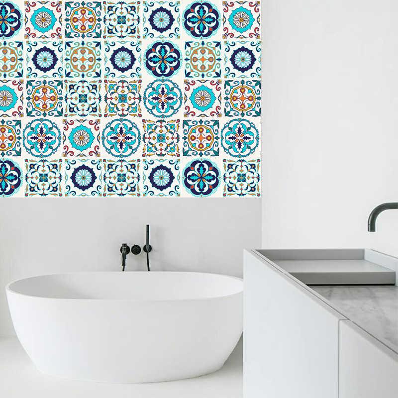 Tự Dính Maroc Thun Decal Dán Tường Nhựa PVC Chống Dầu Chống Thấm Nước Cho Nhà Phòng Khách Phòng Ngủ Nhà Bếp Phòng Tắm 20x100cm