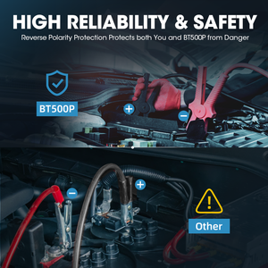 Image 4 - TOPDON – testeur de batterie de voiture BT500P 12V 24V, avec imprimante, charge de batterie, analyseur de batterie, démarrage automatique, moto