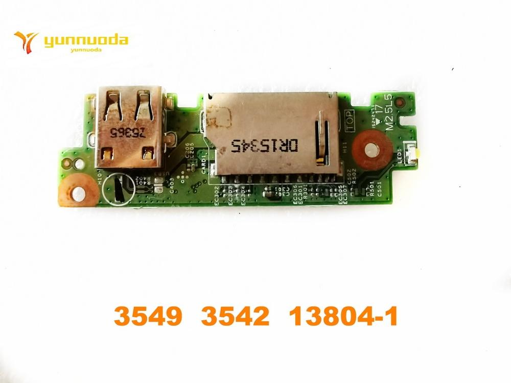 Original For Dell  Inspiron 3000 3541 3542 SD Slot USB  Board 3549  3542  13804-1 Tested Good Free Shipping