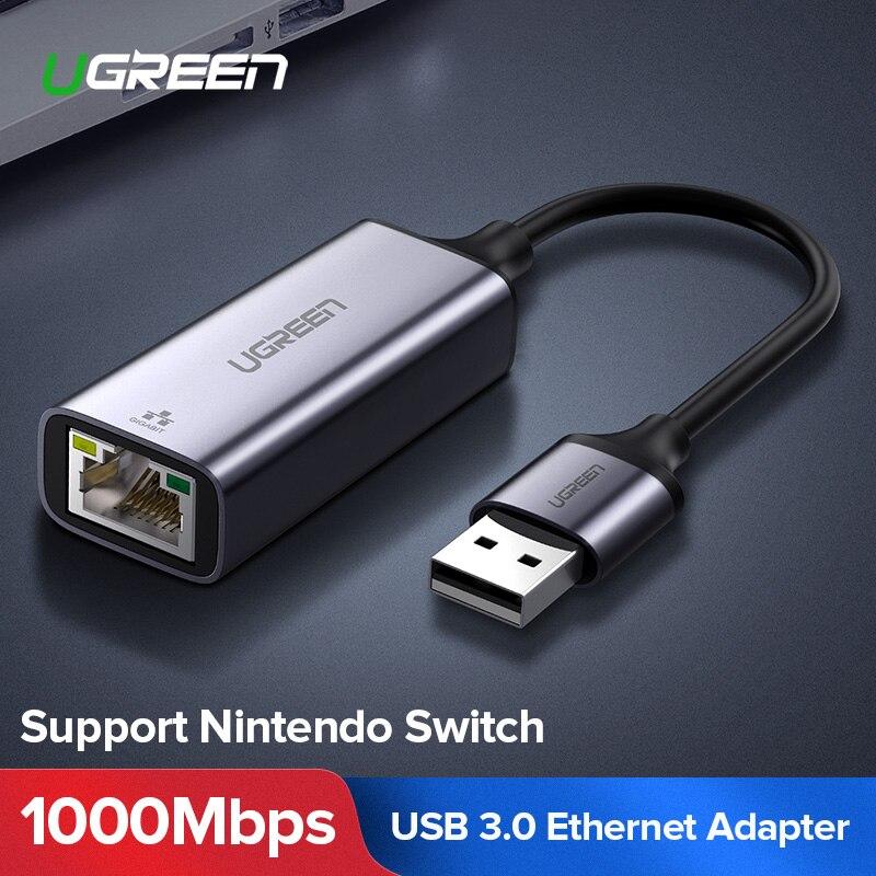 UGREEN USB 3.0 Ethernet Adapter USB 2.0 Network Card to RJ45 Lan for Windows 10 Xiaomi Mi Box 3 S Nintend Switch Ethernet USB(China)
