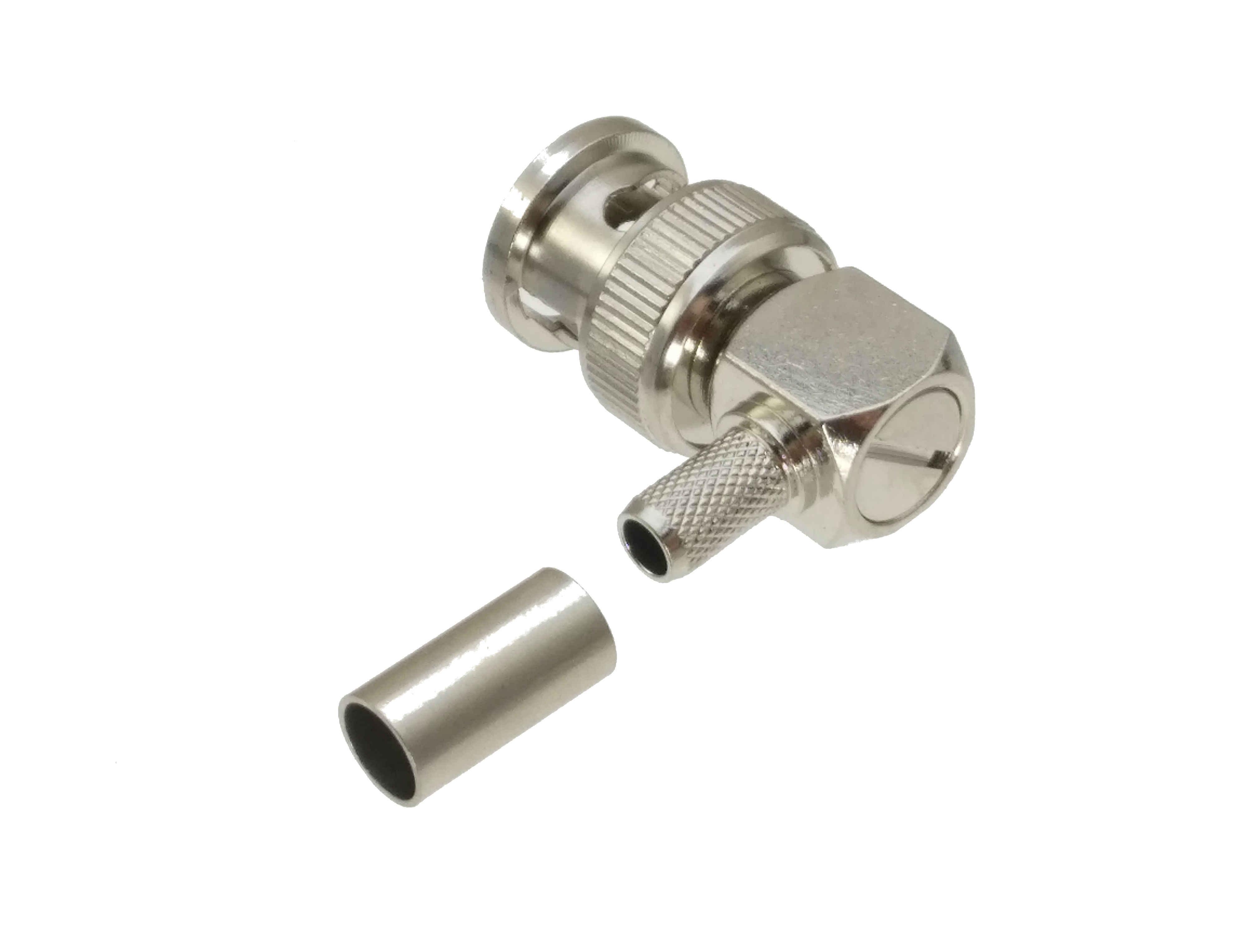 BNC オスプラグライトアングルコネクタケーブル RG142 LMR195 RG58 RG400 ケーブル RF コネクタ