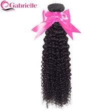 Gabrielle – tissage en lot brésilien Remy naturel crépu bouclé, couleur naturelle, 8-28 pouces, Extensions de cheveux, 1 pièce, livraison gratuite