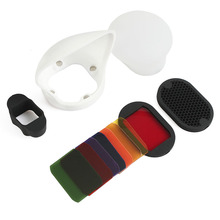 Bounce-Reflector Diffuser Flash-Accessories Flash-Speedlight FILTERS Magnetic-Gel-Band