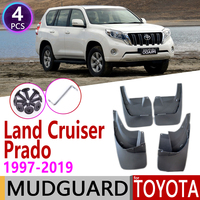 for Toyota Land Cruiser Prado LC90 FZJ90 LC120 FJ120 LC150 FZ150 1997~2019 Fender Mud Guard Splash Flaps Mudguards Accessories Car Stickers     -