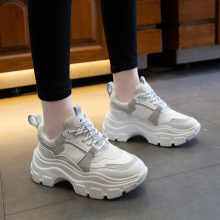 White Sneakers Women 2020 Fashion Dad Shoes Casual Chunky Platform Black Sneakers Woman Vulcanize Shoes habuckn 2020 new white leisure sneakers women shoes chunky sneakers platform vulcanize shoes woman breathable mesh sequins