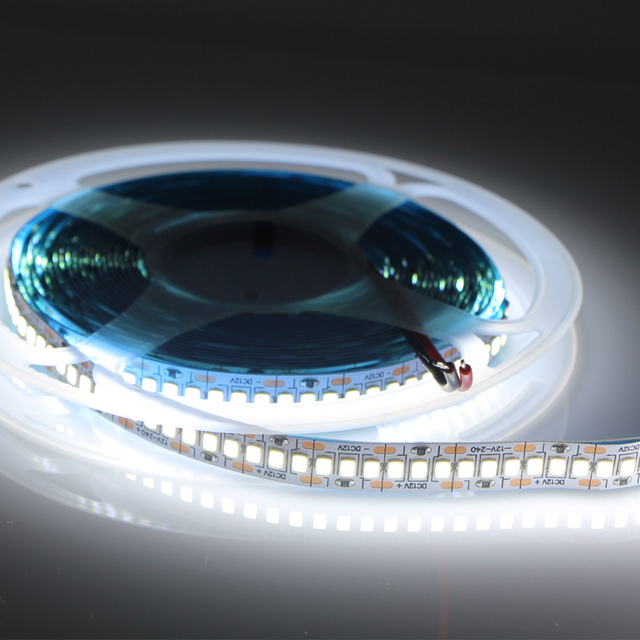 12v 24v conduziu a luz de tira smd 2835 impermeável tira conduzida 240led/m 480led/m corda fita flexível lâmpada branco quente 4000k branco