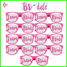 Bachelor party bride pink glasses Team wedding bridesmaid mesh m nail