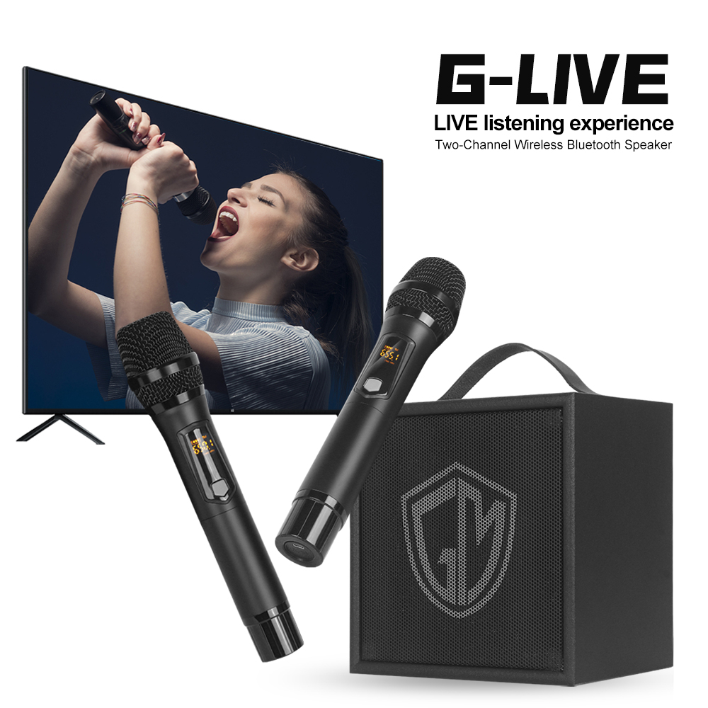 G-MARK G-LIVE Karaoke Wireless Speaker With Microphone Bluetooth Handheld Portable Home KTV Player For Kids Party Show Outdoor