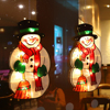 Santa Claus Led Suction Cup Window Hanging Lights Christmas Decorative Snowman Atmosphere Scene Decor Festive Decorative Lights