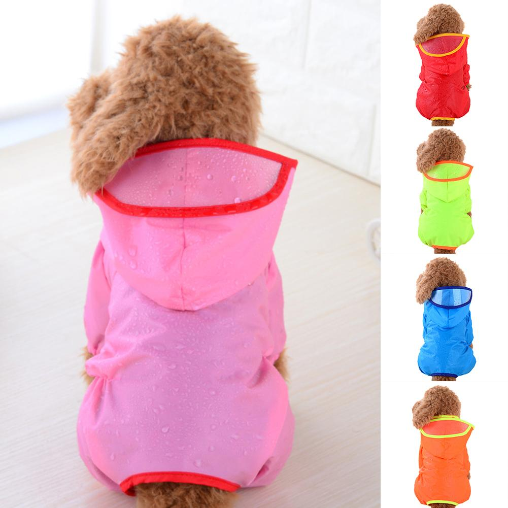 Waterproof Dog Puppy Hooded Apparel Raincoat Outdoor Jacket Pet Costume Clothes