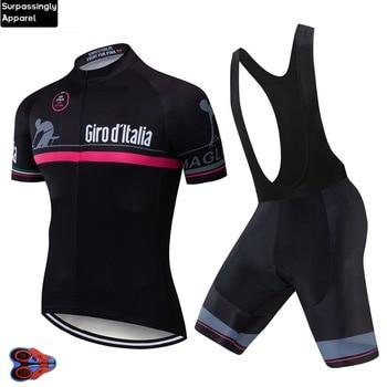 2019 hombres verano Tour de Italia equipo Pro Ciclismo Jersey Ropa bicicleta...