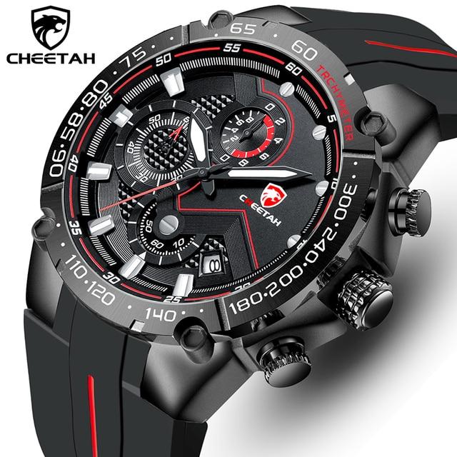 Top Brand CHEETAH Men Watch Casual Business Wristwatch Fashion Luxury Silicone Strap Sports Waterproof Clock Relogio Masculino 1