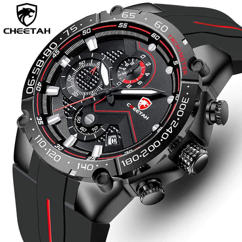 ด้านบนยี่ห้อCHEETAHผู้ชายนาฬิกาCasualนาฬิกาข้อมือแฟชั่นซิลิโคนกีฬานาฬิกากันน้ำRelogio Masculino
