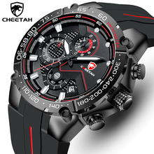 Top Brand CHEETAH Men Watch,Casual Business Wristwatch,Fashion Luxury Silicone Strap Sports Waterproof Clock,Relogio Masculino