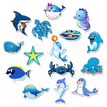 49Pcs Cartoon Marine life Not repeating Waterproof Stickers for DIY Laptop Phone Suitcase Bicycle Helmet Car Decals Juguetes