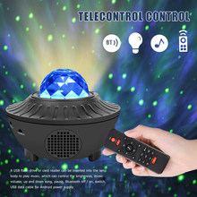 Sound Activated Led Starry Water Wave Licht Multi-Functionele Praktische Duurzaam Bluetooth Usb Music Player Projector(China)
