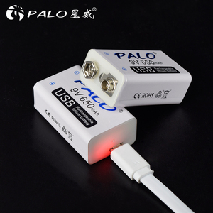 Image 3 - PALO 650mAh 9V Rechargeable Battery 6F22 Micro USB 9v Li ion Lithium Batteries for Multimeter Microphone Toy Remote Control KTV