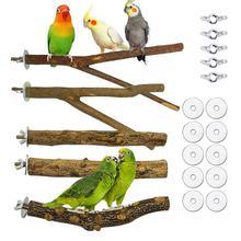 Стоячая палочка для домашних животных, попугай, Виноградная деревянная палочка, попугай для кокатила, кусающая Когтеточка, шлифовальная иг...