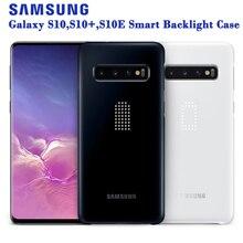 סמסונג המקורי אינטליגנטי LED טלפון מקרה לסמסונג גלקסי S10E S10X S10 בתוספת S10Plus SM G9700 G9730 קשיח טלפון כיסוי