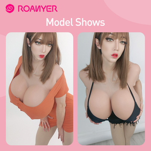 Image 3 - Roanyer Realistic Fake Boobs Artificial Silicone Breast Form for Crossdresser transgender Shemale drag queen B C D E F G H Cup