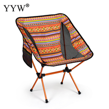 Backrest Camp Chair Hiking Fishing Outdoor Folding Chair Stool Portable Lightweight Backpacking Camping Chair Bohemia Style lounge beach chair fishing backrest lightweight folding chair outdoor portable camping deck chairs for hiking
