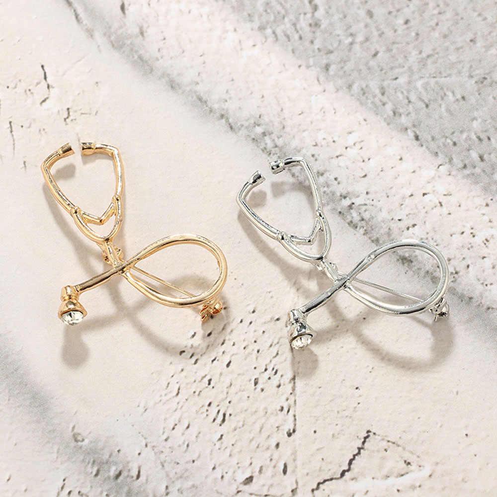 1Pc Hoge Kwaliteit Broches Arts Verpleegkundige Stethoscoop Broche Medische Sieraden Enamel Pin Denim Jassen Kraag Badge Pinnen Knop