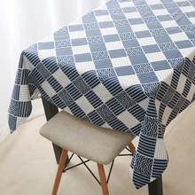Tablecloth Household Country Japanese Plaid Print Rectangle Square Table Cover Textile Home Garden Kitchen Decoration Tablecloth