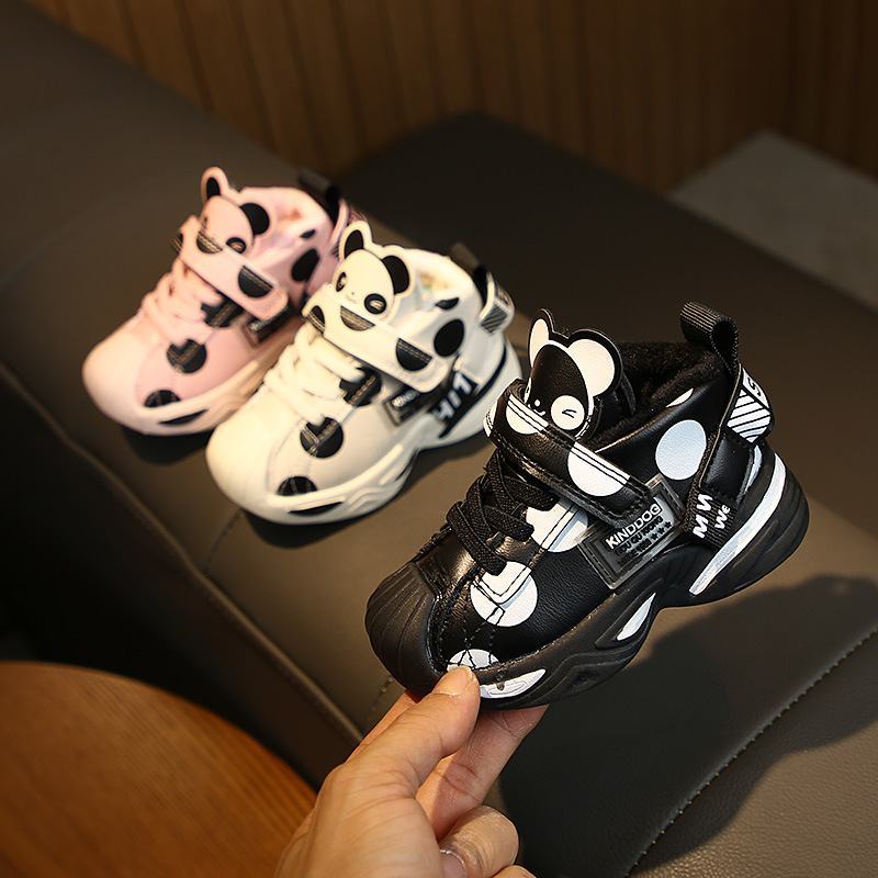 Winter Baby Children's Shoes Cartoon Sneakers Baby Warm Cotton Shoes 0-3 Years Old Casual Shoes