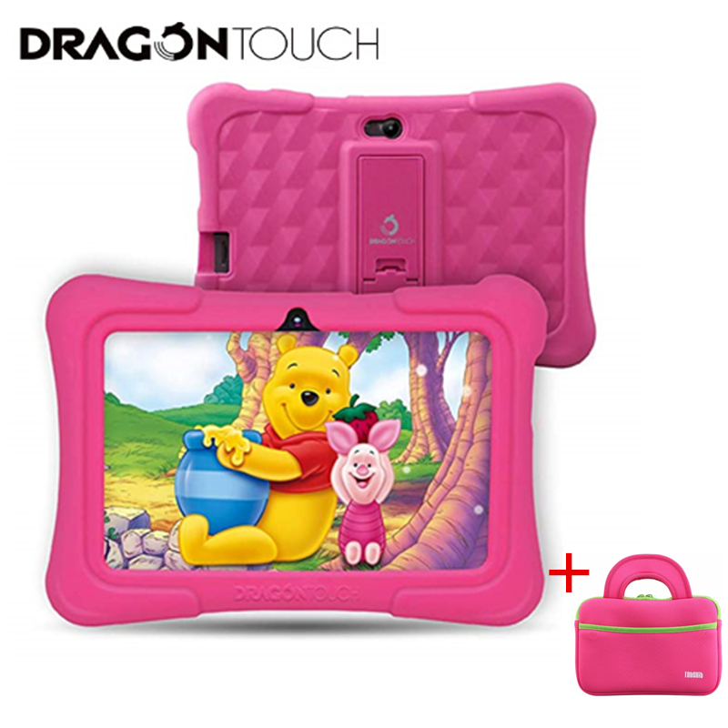 Kids Tablet For Children Dragon Touch Y88X Pro 7'' HD Display Kids Tablets 16GB Android 9.0 Tablet With Tablet Bag  Tablet PC