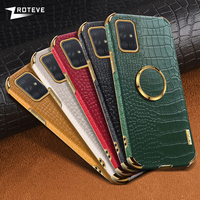 A71 caso ZROTEVE patrón de cocodrilo cubierta de cuero para Samsung Galaxy A31 A41 A51 A21S A11 A12 A42 A52 A72 A82 A22 A32 4G 5G 5 Coque