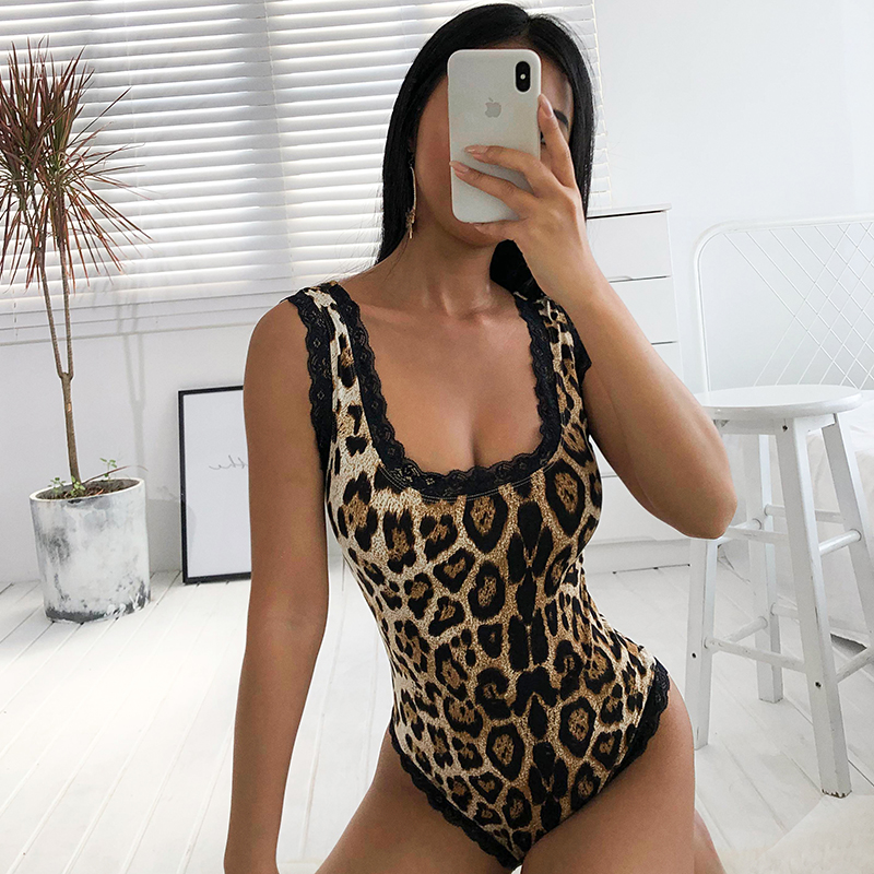 Rapwriter Sexy Backless Cross Lace Up Skinny Lace Patchwork Black Bodysuits Women 2018 Stretch Sleeveless Open Crotch Bodysuit