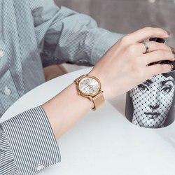 Donne Della Vigilanza Superiore di Marca di Lusso Oro Svizzero Movimento Al Quarzo In Acciaio Inox Signore di Modo Orologi Donna Orologi Reloj Mujer 36 millimetri
