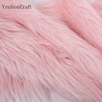 Chzimade Long Rabbit Faux Fur Fabric 20x30/40x60cm For Patchwork Sewing Material Garment Diy Home Decoration 6