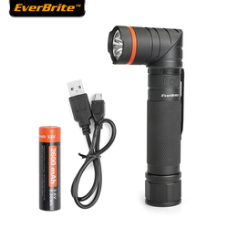 EverBrite LED flashlight Tactical Flashlight USB Rechargeable torch 18650 Battery Included Super Bright IP65 Water-Resistan