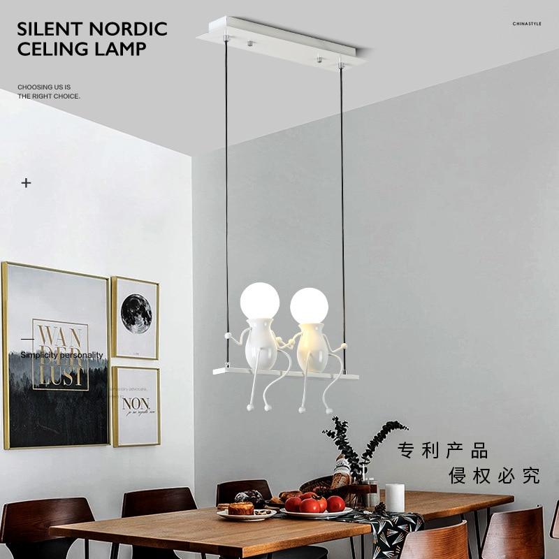 Creative Little Dolls Swing Pendant Light Pendant Lights