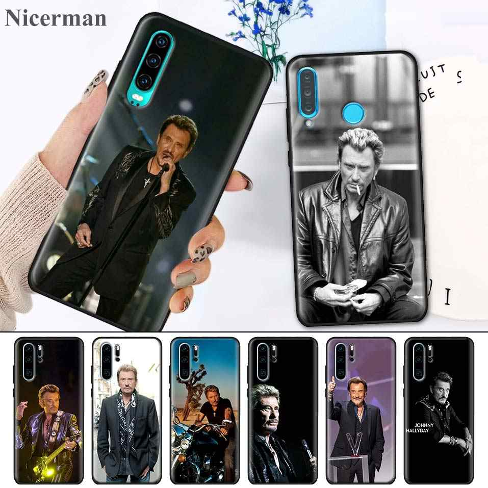 Черные силиконовые чехлы для huawei P30 P20 P10 mate 30 20 10 Lite Pro P Smart Z Plus 2019 Nova 5i Pro Fundas Coque Johnny Hallyday