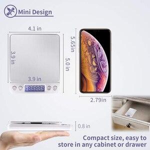 Image 3 - Портативные точные мини электронные весы, Карманный чехол для почты, кухни, ювелирных изделий, баланс веса, цифровой Вес г, ЖК дисплей