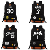 New Style Basketball Player 30 Rucksack School Backpack School travel bags Laptop bag for Student Girl Boys Gifts