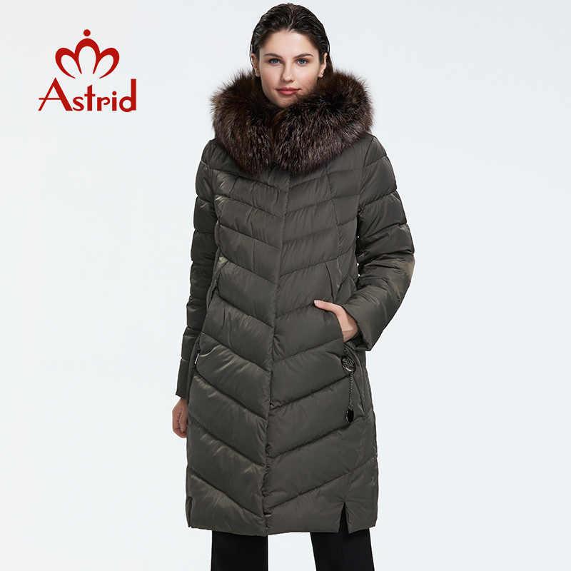 Astrid 2019 hiver nouveauté doudoune femmes avec un col en fourrure vêtements amples vêtements d'extérieur qualité femmes hiver manteau FR-2160