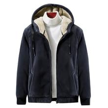 2019 Winter Neue Weiche Samt männer Kapuzen Fleece Warme Jacken Verdicken Casual Thermische Mantel Große Größe 4XL 5XL