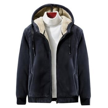 2019 Winter New Soft Velvet Men's Hooded Fleece Warm Jackets Thicken Casual Thermal Coat Big Size 4XL 5XL цена 2017